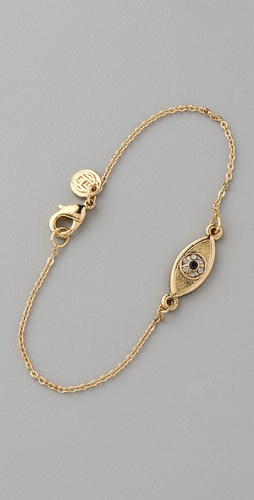 House of Harlow 1960 Evil Eye Charm Bracelet
