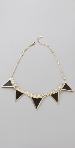 House of Harlow 1960 Triangle Armor Five Station Necklace