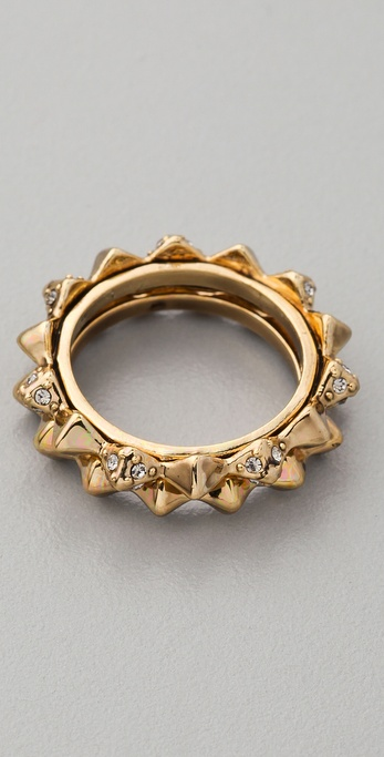 House of Harlow 1960 Spike Stack Ring Set