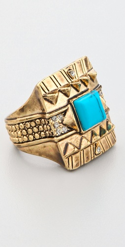 House of Harlow 1960 Cushion Cocktail Ring