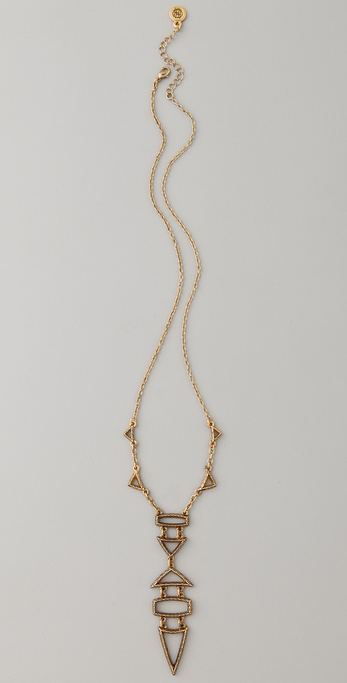 House of Harlow 1960 Small Geometric Drop Necklace