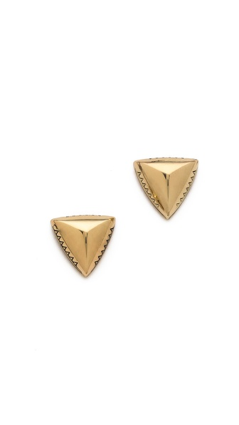 House of Harlow 1960 Engraved Faceted Pyramid Stud Earrings