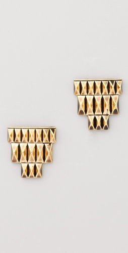 House of Harlow 1960 Pyramid Bar Stud Earrings