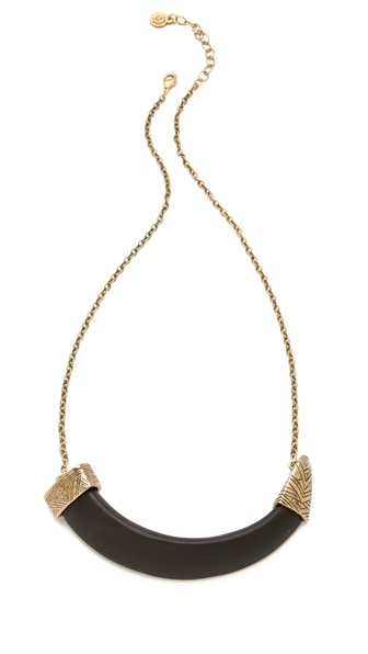 House of Harlow 1960 Horizontal Horn Necklace