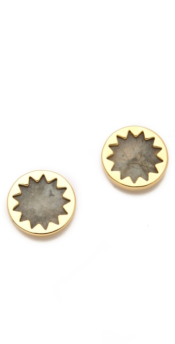 House of Harlow 1960 Labradorite Sunburst Stud Earrings