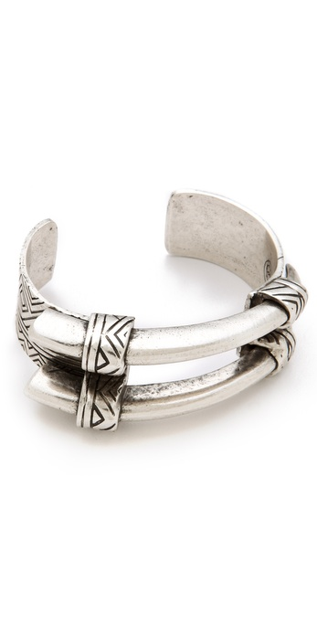 House of Harlow 1960 Engraved Horn Cuff