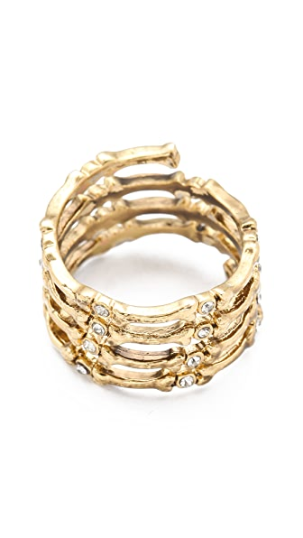 House of Harlow 1960 Bone Wrap Ring