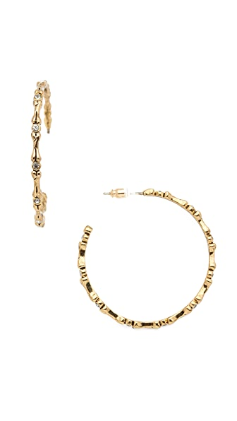 House of Harlow 1960 Bone Hoop Earrings