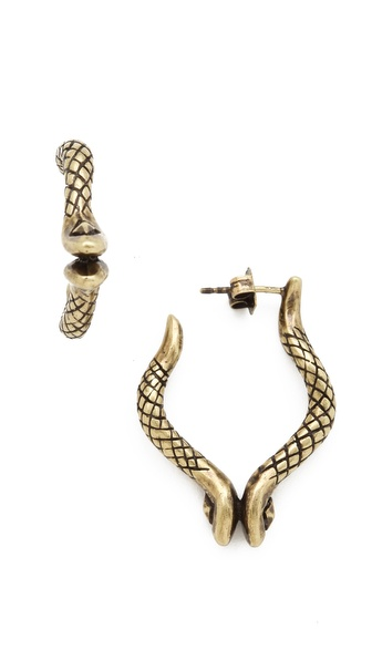 House of Harlow 1960 Double Snake Earrings