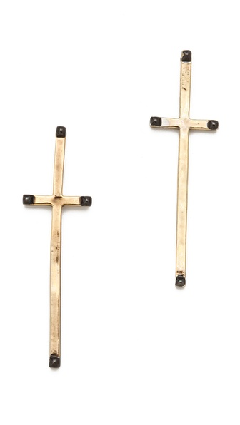 House of Harlow 1960 Long Cross Earrings