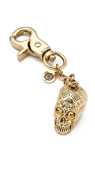 House of Harlow 1960 Engraved Skull Keychain