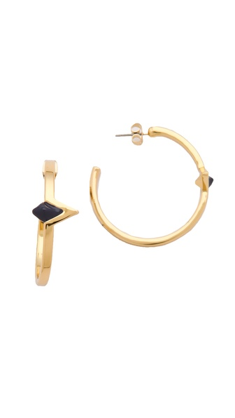 House of Harlow 1960 Navy Triangle Hoop Earrings