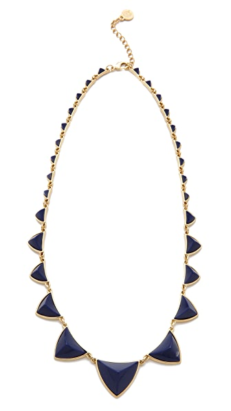 House of Harlow 1960 Navy Pyramid Necklace