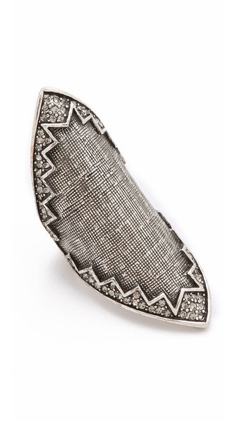 House of Harlow 1960 Crosshatched Pave Ring