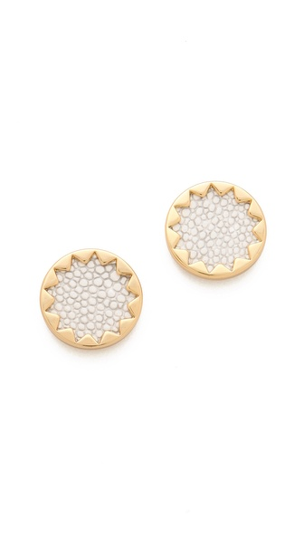 Sunburst Stud Earrings SHOPBOP from shopbop.com