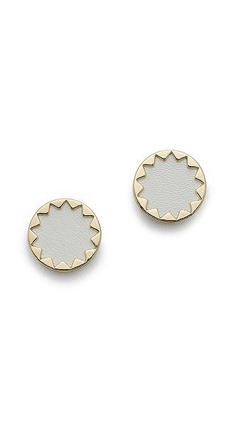 House of Harlow 1960 White Sand Sunburst Stud Earrings