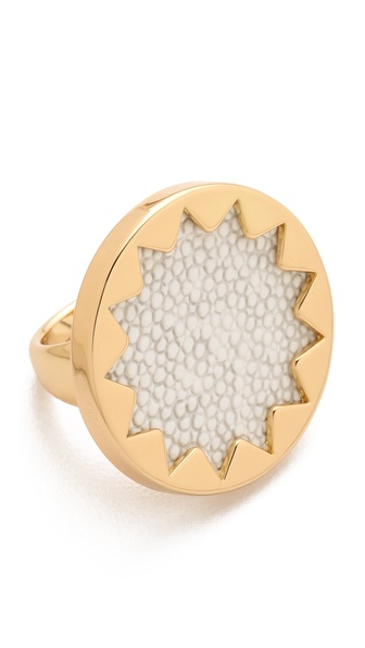 House of Harlow 1960 White Sand Medium Sunburst Ring