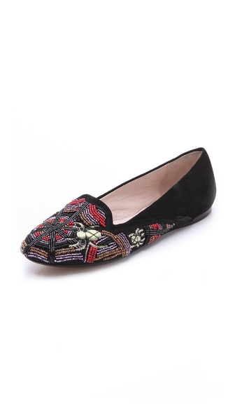 House of Harlow 1960 Zia Spider Embroidery Flats