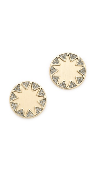 House of Harlow 1960 Earth Metal Sunburst Stud Earrings