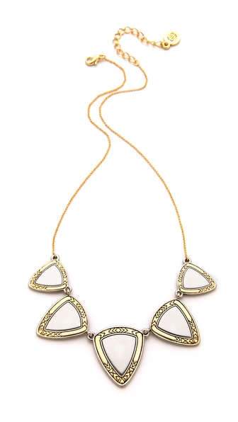 House of Harlow 1960 Metallic Flatpick Necklace