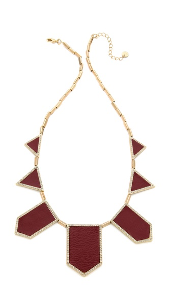 House of Harlow 1960 Pave Five Station Necklace