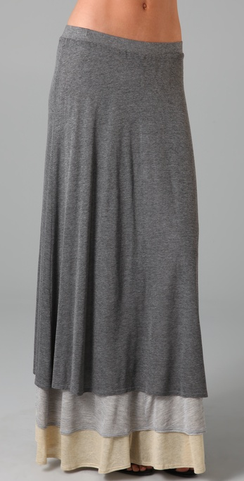 MONROW Layered Long Skirt