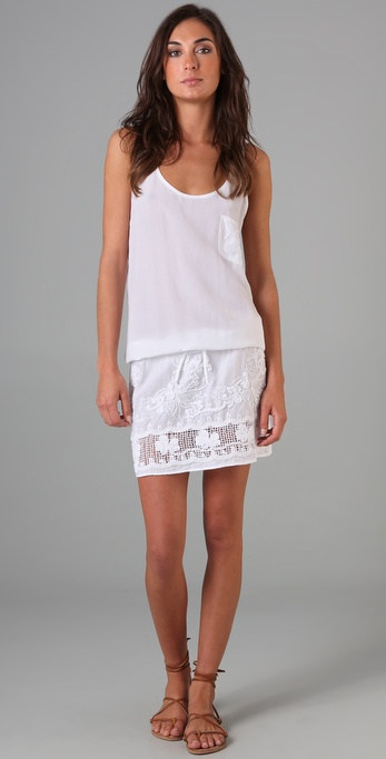 MONROW Crochet Tank Dress
