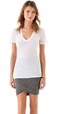 MONROW Tissue V Neck Tee