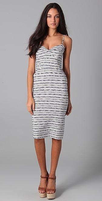 MONROW Chain Stripe Bustier Dress