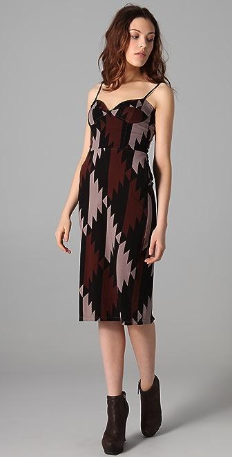 MONROW Southwest Bustier Midi Dress