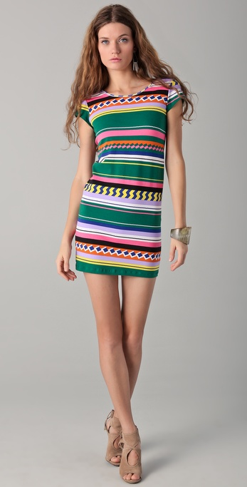 MONROW Cap Sleeve Scooped Back Dress