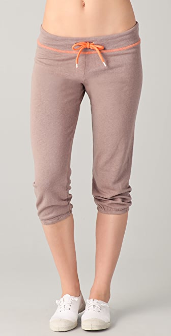 MONROW Contrast Cropped Vintage Sweats
