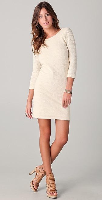 MONROW Crochet Stripe Dress