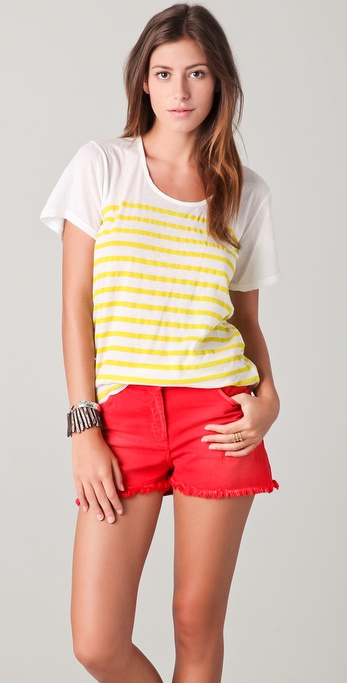 MONROW Scoop Neck Top