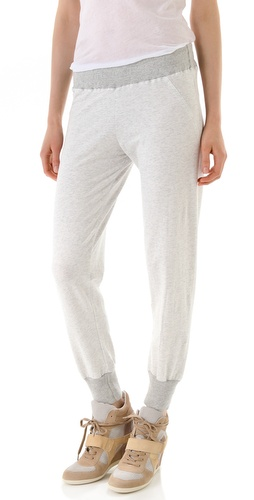 MONROW Skinny Long Cuff Sweatpants