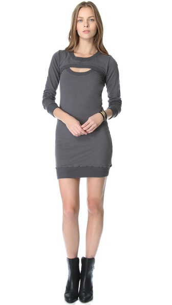 MONROW Open Front Dress