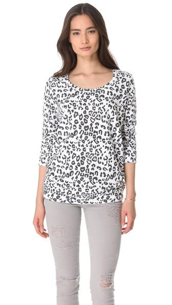 MONROW Leopard Boyfriend Sweatshirt
