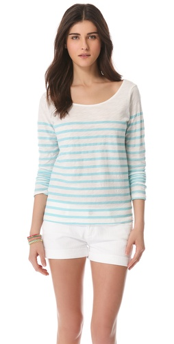 MONROW French Stripe Tee