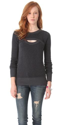 MONROW Open Front Sweatshirt