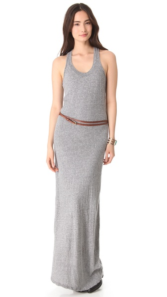 MONROW Granite Jersey Maxi Dress