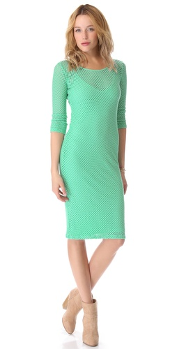 MONROW 3/4 Sleeve Knit Dress
