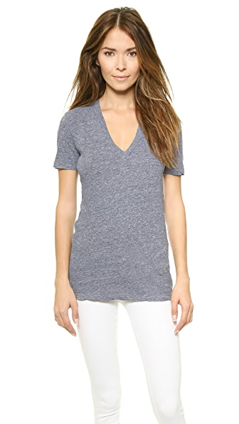 MONROW Oversized V Neck Tee