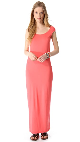 MONROW Novelty Basic Cutout Maxi Dress