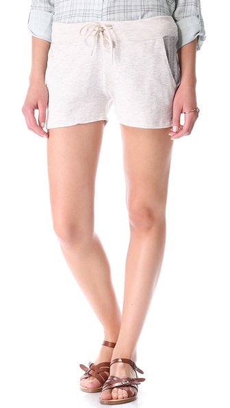 MONROW Super Soft Contrast Pocket Shorts