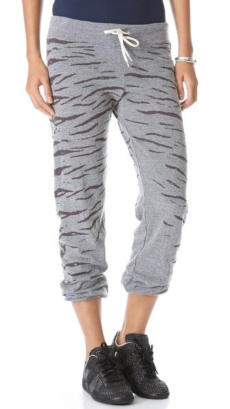 MONROW Tiger Print Vintage Sweatpants