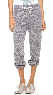 MONROW Mini Leopard Granite Vintage Sweatpants
