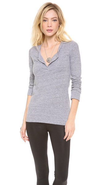 MONROW Long Sleeve Granite Henley