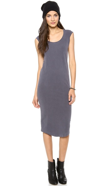 MONROW Cap Sleeve Dress