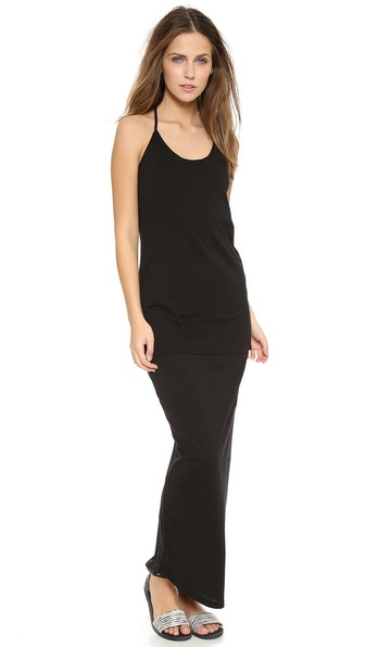 MONROW Basic Double T Back Maxi Dress
