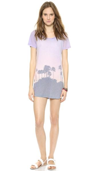 MONROW Cali Print T-Shirt Dress